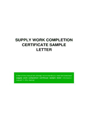 How to write a letter of completion